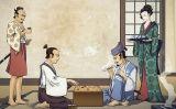 Dos samurais juguen al joc del go