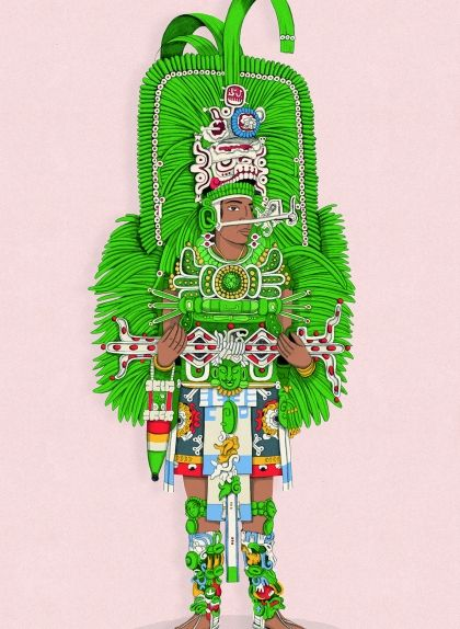 Jasaw Chan K'awiil I va ser rei de Tikal entre els anys 682 i 734