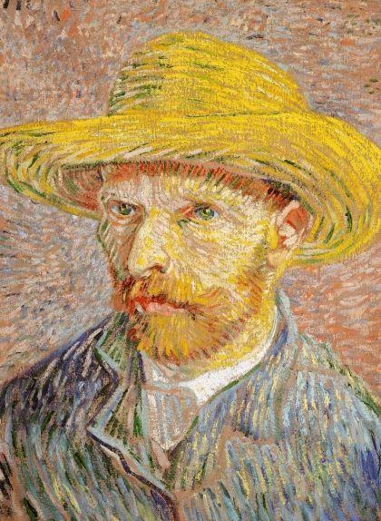 En aquest auroretrat, Van Gogh tenia 34 anys