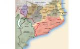 Mapa de la Catalunya actual en temps d'Ermessenda