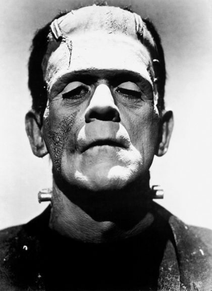 L'actor Boris Karloff fa de monstre en una pel·lícula del 1935