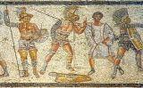 Gladiadors en un mosaic de Líbia