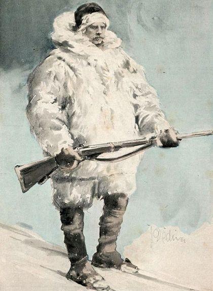 Nansen preparat per trobar-se un os polar