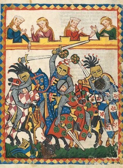 Cavallers estovant-se en un torneig