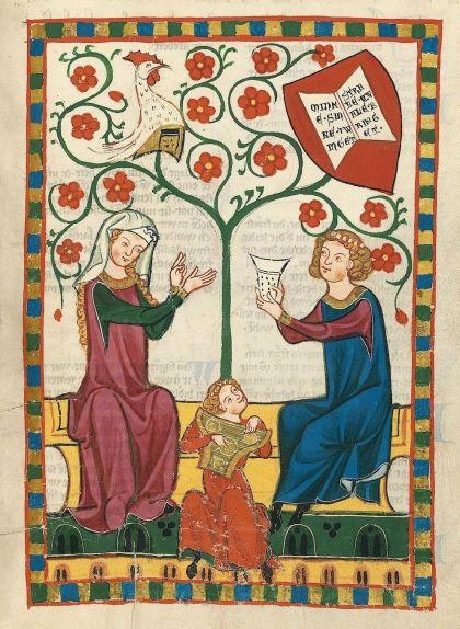 Un trobador, una dama i un joglar