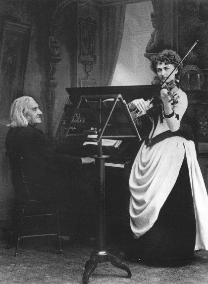 Franz Liszt i la violinista Armah Senkrah el 1855