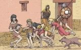 Nens ibers juguen al cavall fort