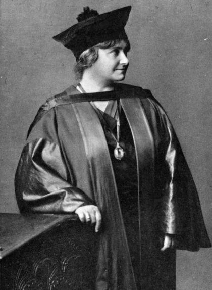 Maria Montessori el dia que va acabar els estudis de medicina
