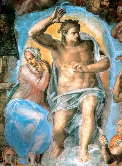 Jesucrist presideix el judici final a la Capella Sixtina