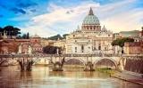 Sant Pere de Roma vist des del pont de Sant'Angelo