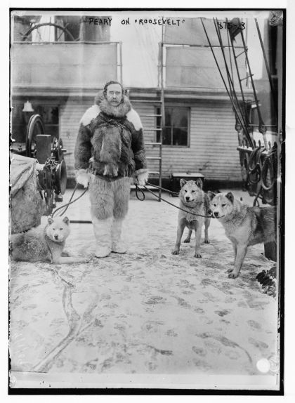 Peary amb els seus gossos àrtics
